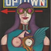 Richard Lindner (1901–1978) Up Town (aus der Serie Fun City), 1971 Lithographie mit Lichtdruck, 65,5 x 51 cm Hamburger Kunsthalle, Kupferstich- kabinett / bpk © VG Bild-Kunst, Bonn 2021 Foto: Christoph Irrgang