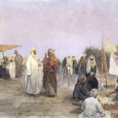 Max Rabes  Markt in Edfu in Oberägypten, 1895  © bpk / Staatliche Kunsthalle Karlsruhe