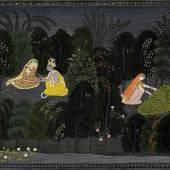 Radha Consoled by Krishna- Purkhu, Kangra