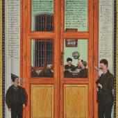 """Josef Karl Rädler  """"Ein Blick und ein Einblick ...""""  1913/1905  39 x 29,1 cm  Mischtechnik auf Papier  Foto: © Galerie Altnöder"""