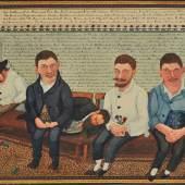 """Josef Karl Rädler  """"Je älter desto dümmer ...""""  1907  29,4 x 42,3 cm  Mischtechnik auf Papier  Foto: © Galerie Altnöder"""