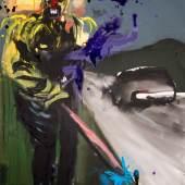 Rainer Fetting, H 2017, Acryl auf Leinwand, 140 x 100 cm