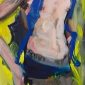 Rainer Fetting, Skater 2018, Acryl auf Leinwand, 140 x 60 cm