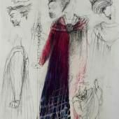 Ralf Winkler (1936–2009), Kostümentwurf für Wotan in Richard Wagners Der Ring des Nibelungen, 1998, im Nachlass des Künstlers, Foto: Kunstsammlungen Chemnitz/Schloßbergmuseum