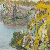 Ramadan Abu Suelem Sommerpalast und Prunkschiff der Königin Kleopatra, 1998, 50 x 70 cm © Sammlung Schernig, www.hud-hud.de