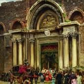 Ramón Tusquets y Maignon (1837 - 1904) Venedig. Auszug eines Kardinals aus Santi Giovanni e Paolo (San Zanipolo)  Öl auf Leinwand | 124 x 95cm  Taxe: 30.000 - 50.000 Euro