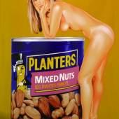 Mel Ramos, Mixed Nuts, 2008/Ed. of 125, Enamel on Steel 50 x 70 x 3 cm