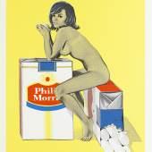 Mel Ramos, Tobacco Rhoda, 1965, Staatsgalerie Stuttgart, Graphische Sammlung, Leihgabe 1968 Kultusministerium Baden-Württemberg, © VG Bild-Kunst, Bonn 2017