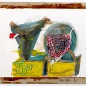 Raphaël Lévy_DIETER ROTH_ Untitled 1978 Mischtechnik und Collage aus Orangenverpackung, Schokoladenverpackung und transparentem Klebstoff auf Papier, 51 x 42 cm, auf Karton fixiert, signiert und datiert auf der linken Unterseite