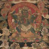 Lot 305 Schwarzgrundiges thangka des Vajrakila in yab-yum Tibet, um 1700. Gouache auf Stoff, 65 x 53,5 cm, hinter Glas gerahmt Schätzpreis: EUR 10.000 – 15.000,-