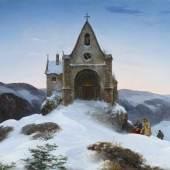 Ernst Ferdinand Oehme  Bergkapelle im Winter   1842  Öl auf Leinwand   78 x 110cm  Ergebnis: 281.600 Euro  *Int. Auktionsrekord für diesen Künstler