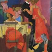 Reinhold Ewald: Tanzlokal, 1922 Öl auf Pappe (zweiteilig), 140 x 99 cm Privatbesitz Foto: Markus Hilbich, Berlin