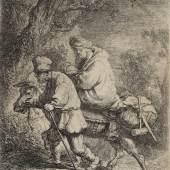 Rembrandt Harmensz. van Rijn, Die kleine Flucht nach Ägypten, 1633, Radierung