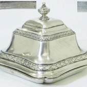 Repräsentative Deckelschale. AUGSBURG Ende 18. Jahrhundert. Mindestpreis:1.900 EUR