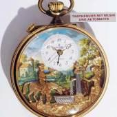 REUGE Taschenuhr mit Wecker, Spieluhr- und Figurenautomat. Modell Montre Reuge Nr. 661 Mindestpreis:900 EUR