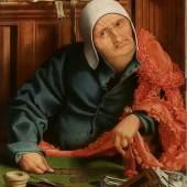 Nr. 402 729 Marinus van Reymerswale (c.1490 – c.1546) Der Geldverleiher Öl auf Holz, 80,5 x 54,5 cm Schätzpreis: € 200.000 – 300.000,-