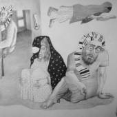 "Gallery : Yarat Title : Drawing from ""In Exile"" Collection Artist : Reza Hazare Date : 2008 Medium : Pencil on paper Courtesy : Courtesy of Yarat Dimension : 86 x 62 cm"