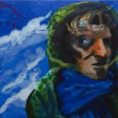 Rainer Fetting, Selbst / Sylt 2019, Acryl auf Leinwand, 120 x 160 cm