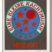 Robert Indiana, Eine kleine Nachtmusik MOZART, 1971, Siebdruck auf Papier, 65 x 55 cm, Ed. von 250 © Robert Indiana, Photo: Ulrich Ghezzi