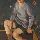 Richard Ziegler, Knabe im Sandkasten, 1926, © VG Bild-Kunst, Bonn 2020