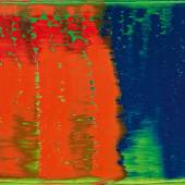 Gerhard Richter Grün-Blau-Rot. 1993 Öl auf Leinwand, 30 x 40 cm Eines von 115 nummerierten Unikaten Schätzpreis: € 200.000 – 250.000,- Ergebnis: € 422.000,-