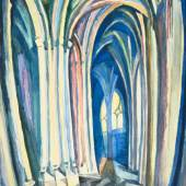 Robert Delaunay, Saint-Séverin, 1909 Aquarell und Bleistift auf Papier, 47,8 x 34 cm Museum of Fine Arts, Boston, Bequest of Betty Bartlett McAndrew
