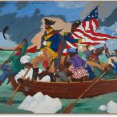 Robert Colescott George Washington Carver Crossing the Delaware: Page from an American History Textbook, 1975