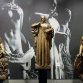 ROBERTAEBASTA, Human knowledge (Les Connaissances Humaines) Raymond Delamarre (Paris, 1890-1986) sculptor and medalmaker  Three important sculpures in patinated gilt plaster