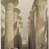 Louis Haghe nach David Roberts  Theben. Die große Säulenhalle in Karnac, aus: Egypt and Nubia, 1846–1849  © bpk / Staatliche Kunsthalle Karlsruhe