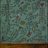 Rodi Khalil, Symbolische Liebesmauer IIIII 70 x 50 cm, Naturfarbe auf Leinwand