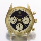 Rolex, A Fine and Rare Yellow Gold Chronograph W…na