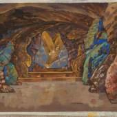 Goldene Höhle aus Der Rübezahl (205 KB) Alfred Roller Ballett von Alfred Roller Hofoper 1907 © Österreichisches Theatermuseum