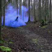 Roman Signer Blauer Rauch, Weissbad, 2016 Video Videoprint: Tomasz Rogowiec  Courtesy der Künstler