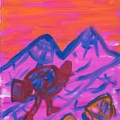 Gilles Rotzetter, Atomic pilgrim, 2017 Öl auf Leinwand, 45 x 50 cm