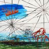 Gilles Rotzetter, Blinded, 2017 Öl auf Leinwand, 170 x 230 cm