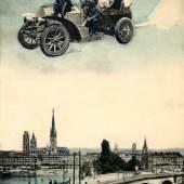 Une excursion à Rouen um 1909 Postkarte Lederer & Popper, Prag Sammlung Peter Weiss, www.postcard-museum.com
