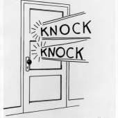 Roy Lichtenstein Knock Knock, 1961 The Sonnabend Collection © Estate of Roy Lichtenstein / VBK Wien, 2011