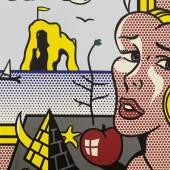 Roy Lichtenstein Girl With Still Life in Landscape 1976 Oil and Magna on canvas 48 x 40 inches Estimate $7/10 million