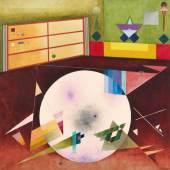 Bauer, Rudolf 1889 Lindenwald - 1953 Deal/New Jersey Light Circle. 1936. Öl auf Leinwand. 121 x 121cm. Signiert unten rechts: R.Bauer. Rahmen. Stempel auf dem Keilrahmen: Das Geistreich Provenienz: Solomon R. Guggenheim Collection, New York Weinstein Gallery, San Francisco Privatsammlung Den Haag