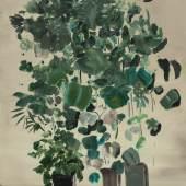 Rudy Cremonini, Indoor Plants 2017, Öl auf Leinwand, 150 x 110 cm