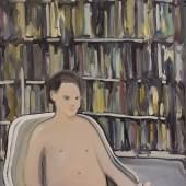 Rudy Cremonini, The Young Library 2019, Öl auf Leinwand, 110 x 90 cm