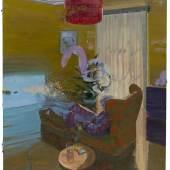 Ruprecht von Kaufmann, Remote-Control 2019, Öl und Collage auf Linoleum auf Holz, 153 x 122,5 cm