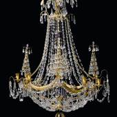 Rusian cut-glass and gilt-brass frame chandelier, late 18th C, (est. £50,000 - 80,000)