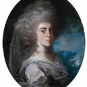 John Russell R.A., Damenporträt, Taxe 3.000 – 4.000 € (7215-1)