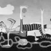 Sabian Baumann, Von Gestern bis Morgen, 2013, Bleistift auf Papier, 150 x 94,5 cm, courtesy Galerie Mark Müller, Zürich
