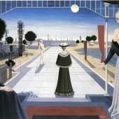 THOMAS SALIS ART & DESIGN, The big alley, 1964 Paul Delvaux (Antheit 1897-1994 Veurne) Oil on canvas 140 x 211 cm
