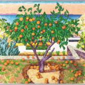 Samuel Buri (1935) Le mandarinier, 2017 Oel auf Leinwand, 100 x 115 cm