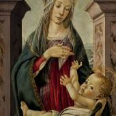 Sandro Botticelli - Madonna and Child, seated before a classical window_£1.5 -2 million
