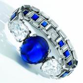 Sapphire and diamond bracelet, Cartier, 1927 (i)