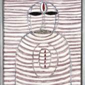 Hans Schärer, Madonna, 1975, Mischtechnik auf Hartpavatex, 95.8 x 87 x 5.5 cm, Kunstmuseum Luzern © Erben Hans Schärer / Pro Litteris, Zürich 2014